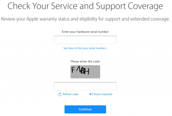 how to check iphone warranty online status