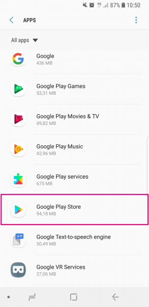Reinstall google play store app for android - how to