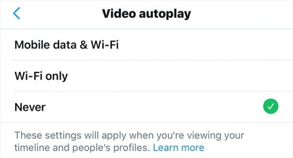 How to turn off video autoplay on twitter, stop disable mobile pc