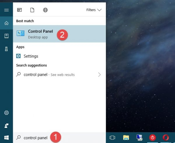 Open control panel windows 10 ,7,8,xp - how to