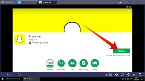Snapchat download for pc windows 10 bluestacks, app messages