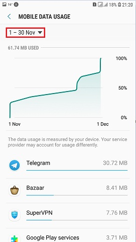 How to check data usage on android mobile statistics app see