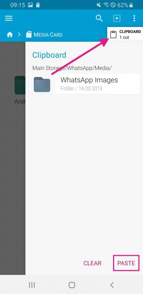How to save whatsapp data to sd card without rooting, move media