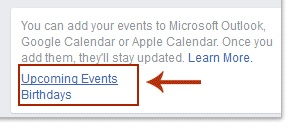 Add Facebook events to google calendar sync iPhone IOS apple